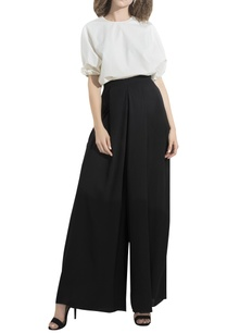 side-pleated-flared-pants