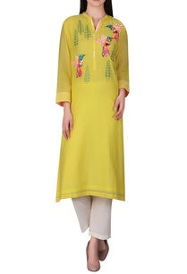 hand-embroidered-cotton-silk-kurta