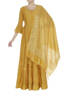 gota-embroidered-anarkali-kurta-with-banarasi-dupatta