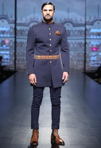 blue-quilted-achkan