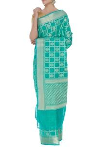 gharchola-banarasi-saree-with-unstitched-blouse