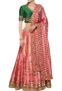 raw-silk-kota-embroidered-lehenga-set