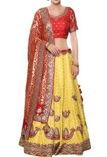 gota-embroidered-lehenga-set-with-bandhej-dupatta