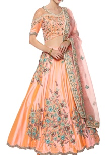 silk-lehenga-set-with-organza-dupatta