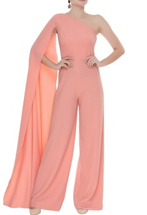 elongated-one-shoulder-sleeve-jumpsuit