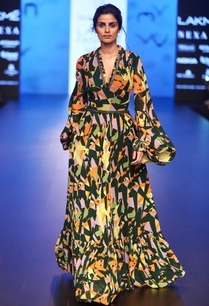 neo-camouflage-printed-flared-gown