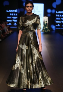foil-printed-satin-gown