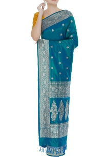 jaal-embellished-handwoven-sari-with-unstitched-blouse
