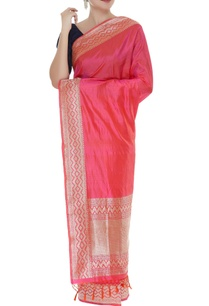 zigzag-embroidered-handwoven-sari