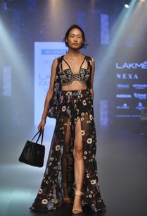 floral-printed-skirt-bustier-cape