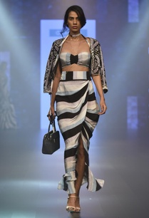 draped-skirt-with-embroidered-jacket-bustier