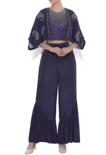 bead-embroidered-crop-top-with-kaftan-jacket-pants