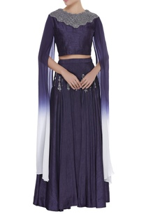 draped-sleeves-crop-top-with-embroidered-skirt