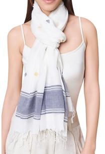 handwoven-jamdani-tassel-border-scarf