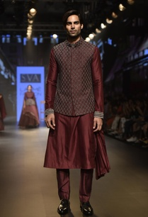 one-side-drape-kurta-with-pants