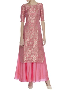 zari-embroidered-kurta-skirt