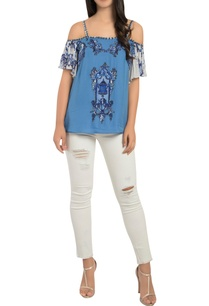 patchwork-embroidered-top