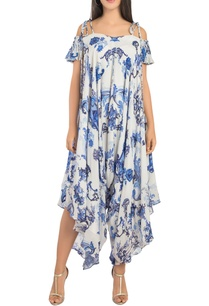 cold-shoulder-printed-jumpsuit