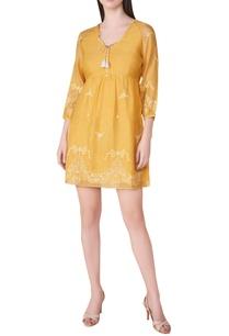 chikankari-hand-embroidered-a-line-dress