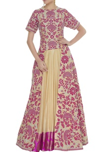 front-slit-kurta-with-lehenga