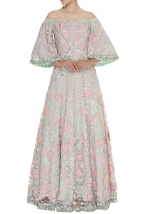 embroidered-flared-sleeves-gown