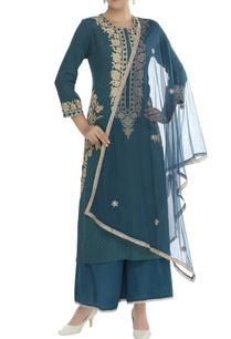 embroidered-long-kurta-with-palazzo-pants-dupatta