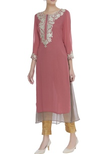 embroidered-georgette-kurta
