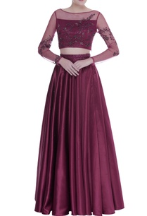 hand-embroidered-top-with-pleated-lehenga