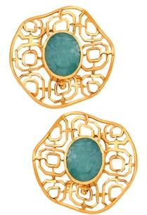 filigree-gold-plated-earrings
