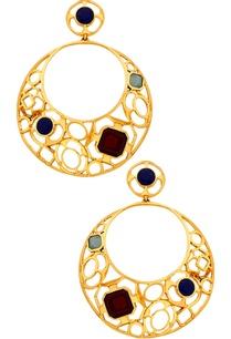 multi-stone-filigree-hoop-earrings
