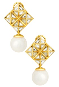 pearl-and-mirror-pyramid-earrings