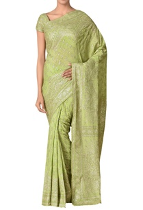 embroidered-silk-sari-with-unstitched-blouse