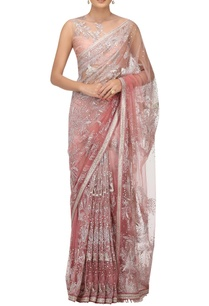 hand-embroidered-sheer-tulle-sari-with-blouse