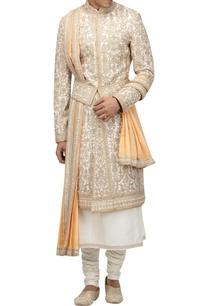 matka-silk-sherwani-set