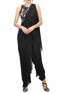pre-draped-jumpsuit-sari-with-peony-floral-embroidered-blouse