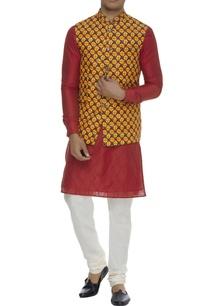 printed-linen-nehru-jacket