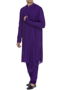 draped-kurta-with-churidar