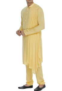 draped-kurta-with-churidar