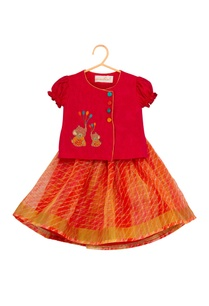 silk-angrakha-top-with-kota-lehenga-skirt
