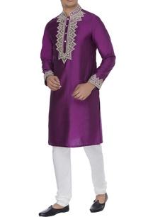 spun-silk-embroidered-kurta