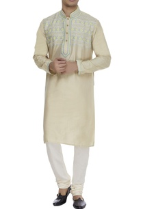 embroidered-silk-kurta