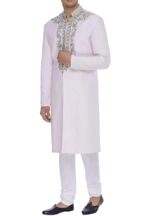 embroidered-linen-sherwani