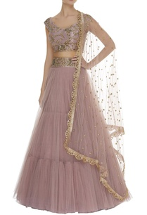 hand-embroidered-blouse-with-tiered-lehenga-dupatta