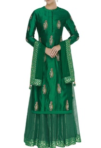 zardozi-work-kurta-with-lehenga-dupatta