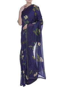 floral-printed-sari-with-sleek-border