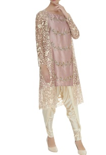 embroidered-flared-kurta-with-dhoti-pants-jacket
