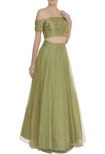 embroidered-lehenga-with-off-shoulder-blouse