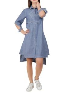 asymmetric-shirt-dress