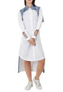 shoulder-flap-cotton-shirt-dress