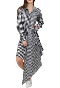 asymmetric-gingham-dress